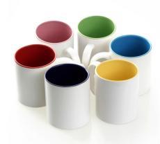 涂层杯白色陶瓷杯热转印马克杯