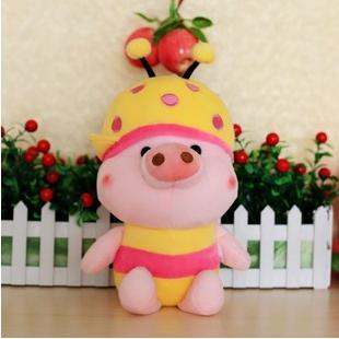 供应麦兜猪公仔蜜蜂情侣猪可爱毛绒玩具
