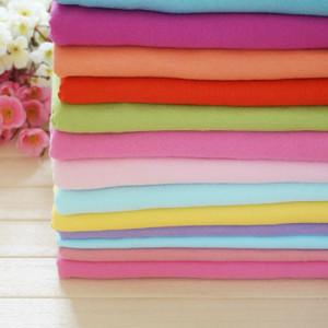 糖果色纯棉布料纯色针织棉毛棉布