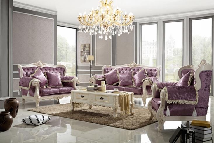 大户型欧式沙发 法式美式沙发玫瑰花图片