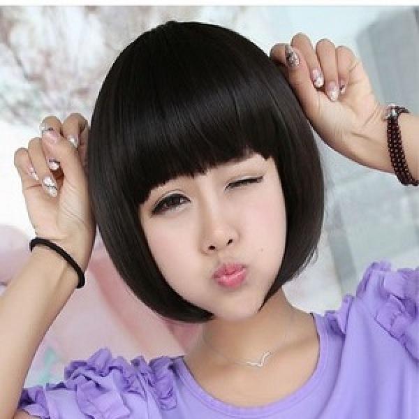 新款短发整顶bobo头 齐刘海学生头可爱直发女生假发