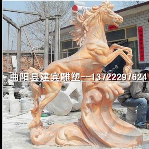 建宾雕塑厂家供应晚霞红各种石雕马