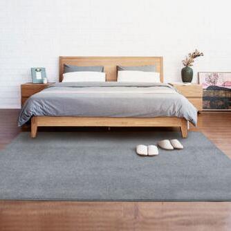 现代简约北欧欧式客厅沙发茶几毯卧室纯色满铺床边毯定制
