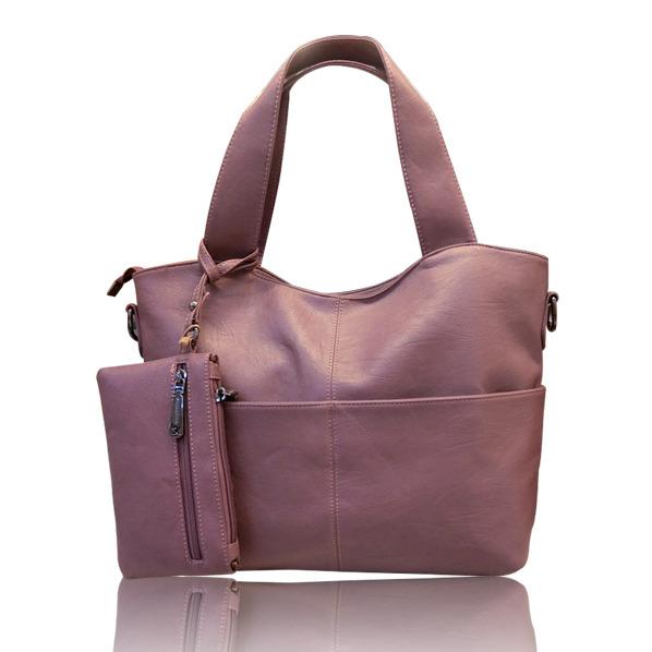 新款手提包三件套大包小包中包斜挎包真皮箱包紫色黑色白色