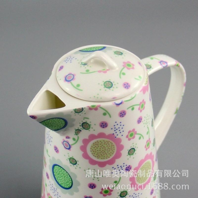 厂家批发陶瓷凉水壶水杯套装 骨瓷家用耐热大容量水具图片