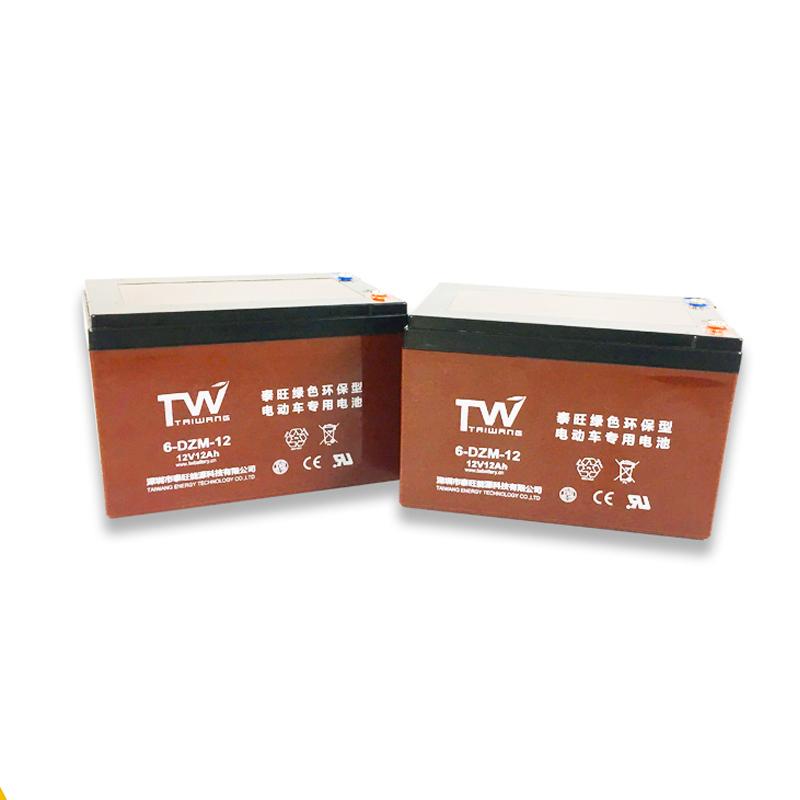 泰旺 厂家直销 电动车蓄电池 全新电池6-DZM-12ah(4只装)电动车铅酸蓄电池