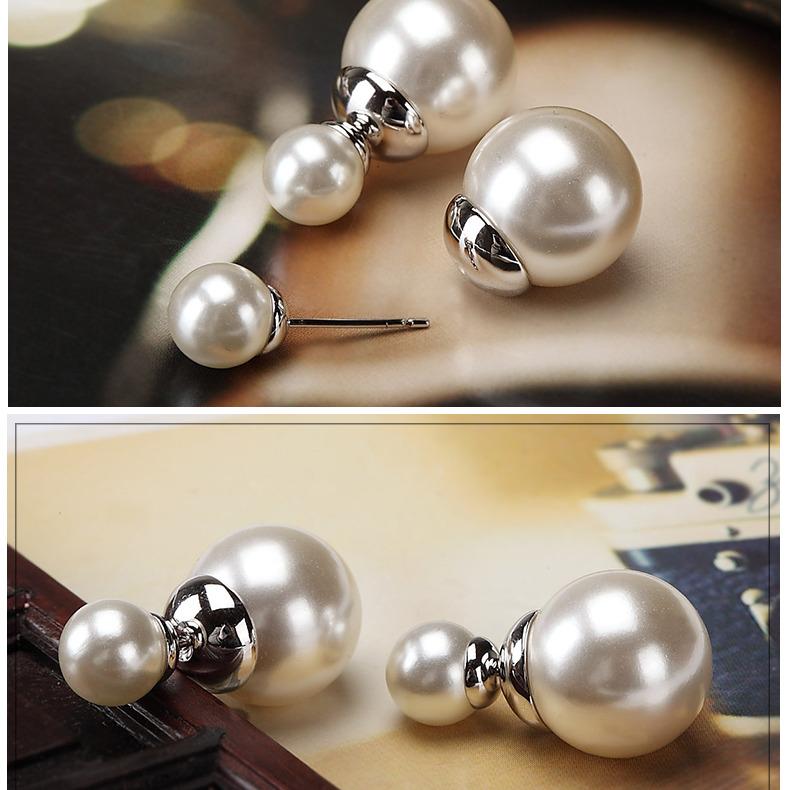 供应  仿珍珠耳钉女韩国气质耳饰简约两用饰品耳坠