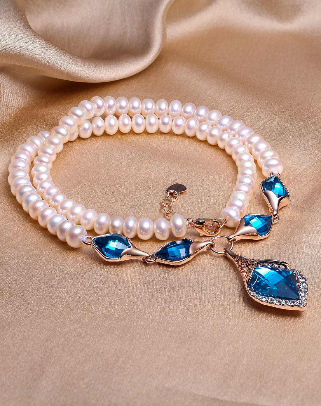 珍珠批發價   時尚魅力 天然珍珠女士項鏈