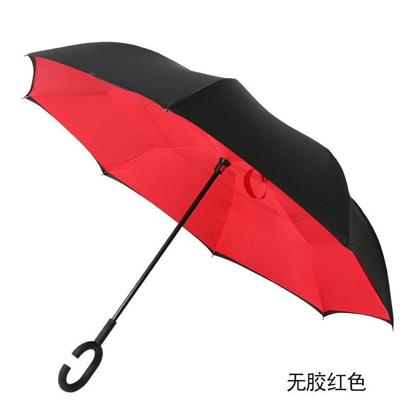 新款多色雨伞厂家直销定制款创意 雨伞 c型手柄反向伞 汽车伞图片