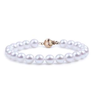 北海珍珠批发日本akoya珍珠手链 女天然海水简约珍珠链