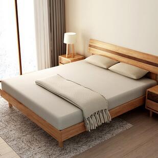 供应 北美白橡双人床 全实木床原木简约环保家具