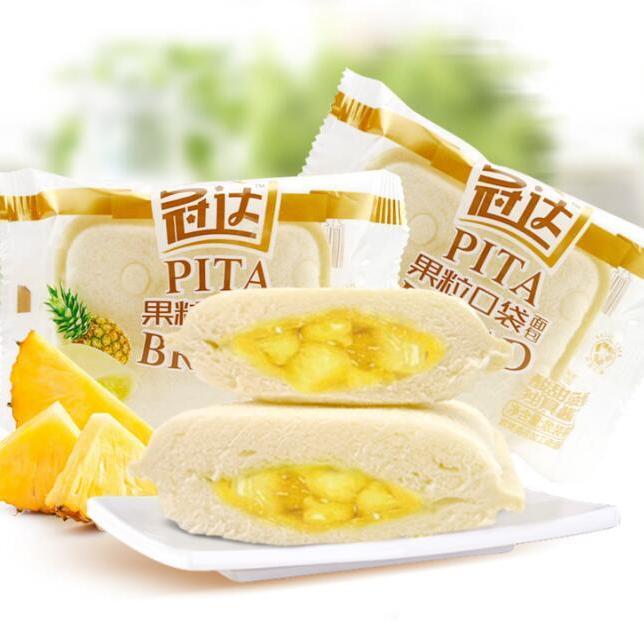 冠达果粒菠萝面包整箱4斤面包夹心早餐糕点还是黄鱼小吃心口袋是咸的美食淡的图片
