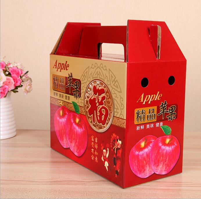 厂家定做苹果纸箱礼品盒苹果包装盒彩盒印刷瓦楞纸箱飞机盒定制