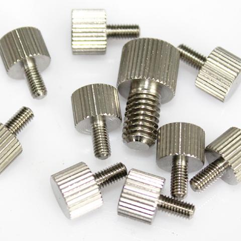 304不锈钢手拧螺丝 小头直纹滚花手拧螺丝螺栓