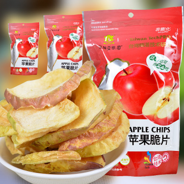 热销 亚细亚田园 苹果脆片 果干果脯 休闲零食品批发一件代发75g