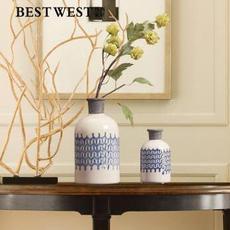 供应  青花瓷纹风格陶瓷花瓶