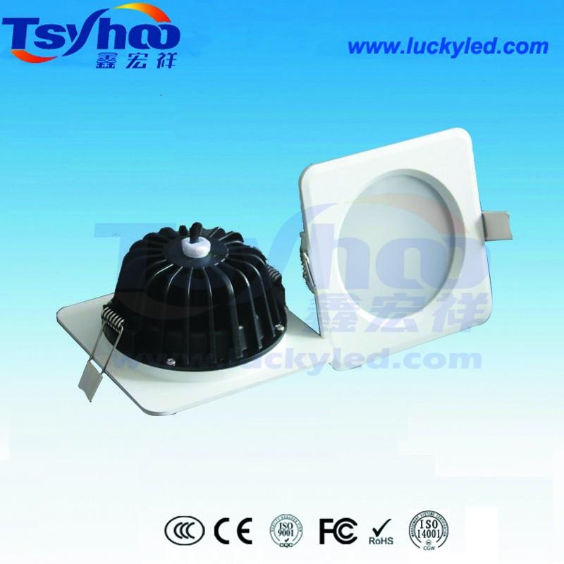鑫宏祥2.5寸7W方形防水天花筒灯 厨卫专用防潮筒灯 压铸铝外壳防水LED筒灯