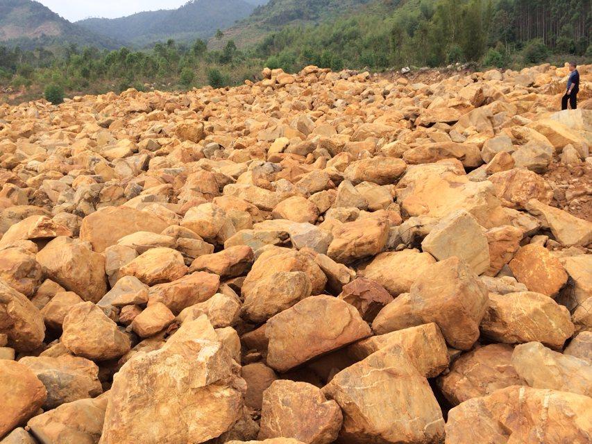 厂家直供销售批发潮州揭西园艺石黄蜡石假山石料