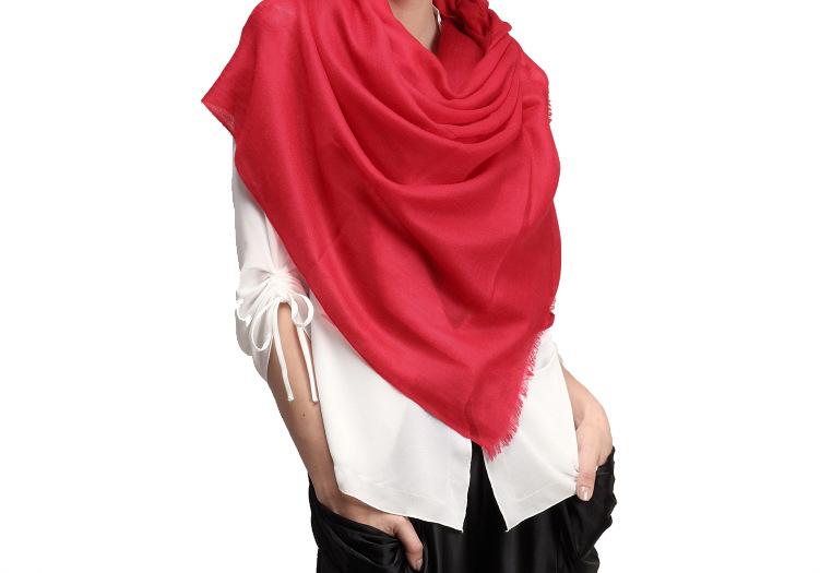 纯羊毛水纹素色围巾TTP006 冬季保暖围巾
