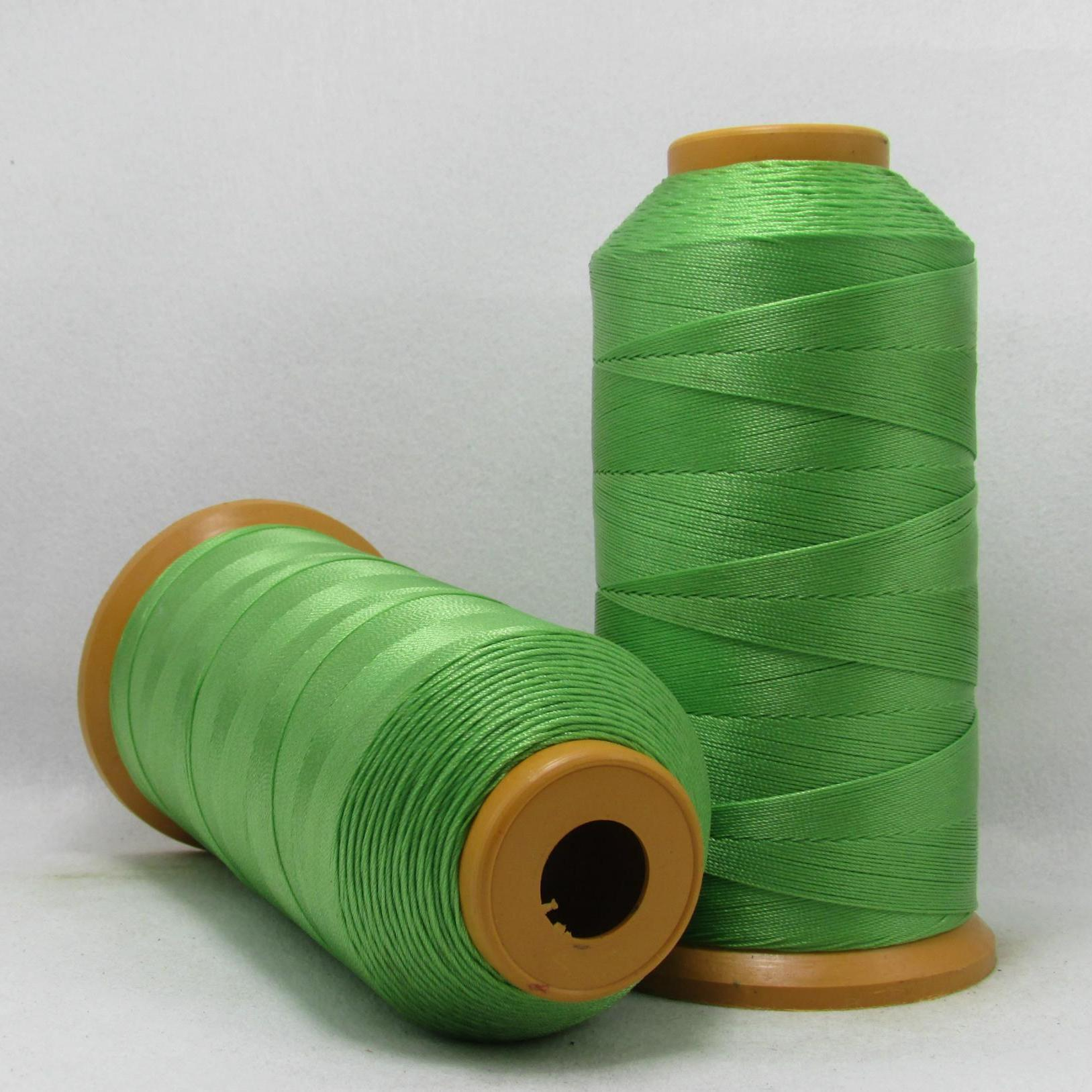 毛皮绿色缝纫线针织线