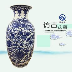 雅缶牌陶瓷 大埔厂家直销 手绘青花19寸冬瓜瓶(19010 ) 陶瓷工艺品家具摆件
