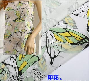 春夏新款女装棉纱烧花面料 热销服装印花布料 爆款烂花女装面料