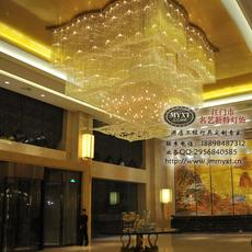 酒店大堂水晶灯 五星级酒店水晶灯 酒店中庭水晶灯 大型工程水晶灯 艺术造型水晶灯