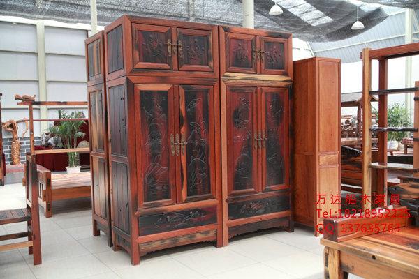 老船木家具船木衣柜 沙发 双人床 中山老船木制造商厂价直销