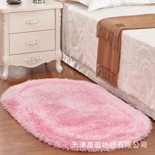 厂家批发卧室床边毯飘窗椭圆形地毯地垫客厅茶几加厚弹力丝3D门垫