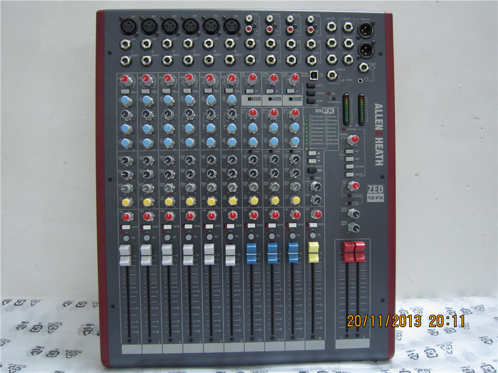 艾伦赫赛 ALLENHEATH ZED12FX 12路 演出工程 专业调音台