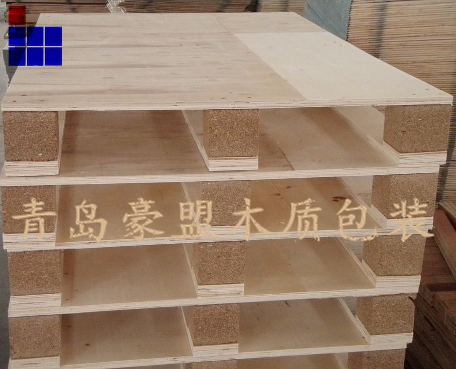 胶州木托盘豪盟单面免熏蒸胶合板托盘尺寸齐全可定制