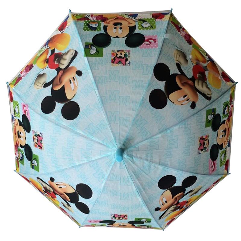 现货批发儿童雨伞 卡通米奇米妮雨伞poe环保小学生直柄伞创.图片
