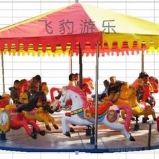 12座折叠简易转马 庙会折叠转马价格 大型儿童游乐设备