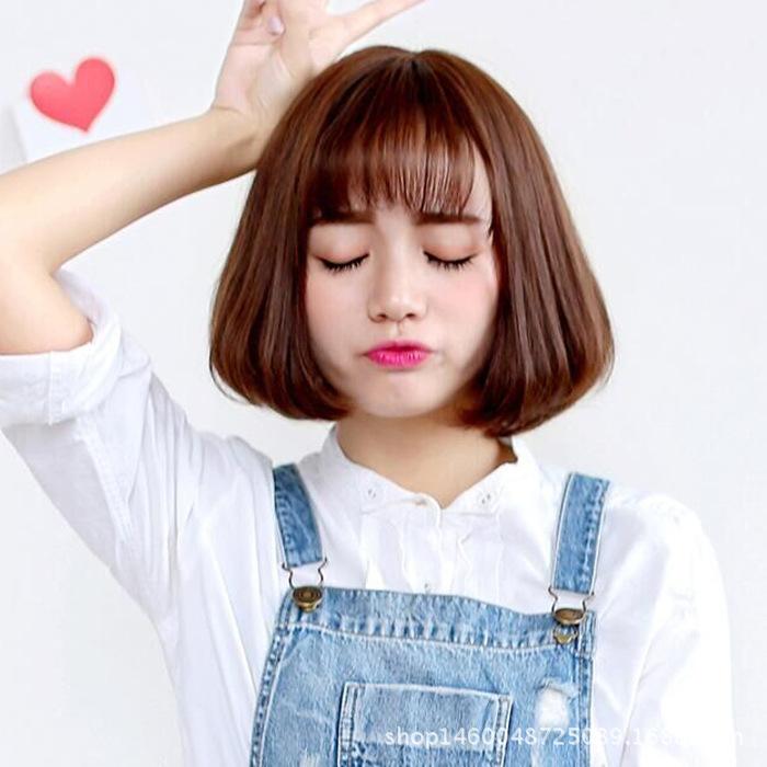 蓝艺 假发头套 女短发短卷发bobo头梨花头空气刘海假发学生韩国