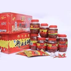 四川特产 七里香红油豆瓣酱  红油郫县豆瓣酱1000g  8瓶一箱