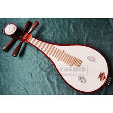 厂家直销红木轴柳琴 硬木高级头花柳琴 赠琴包 支架 弦 拨片 包邮