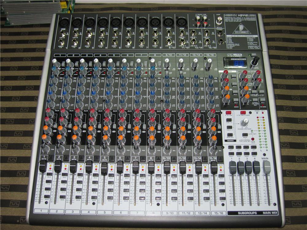 百灵达16路调音台 X2442USB 演出 录音 16种效果专业调音台