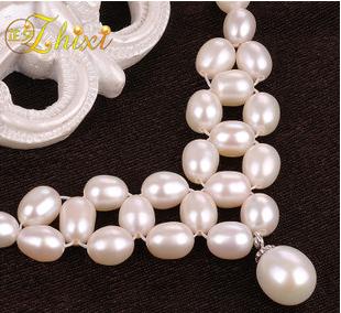 女式米形珍珠手链