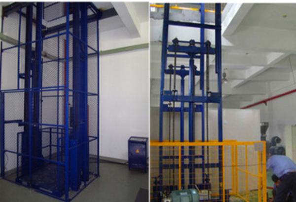 固定导轨链条式液压升降机 升降平台 液压升降平台 升降货梯