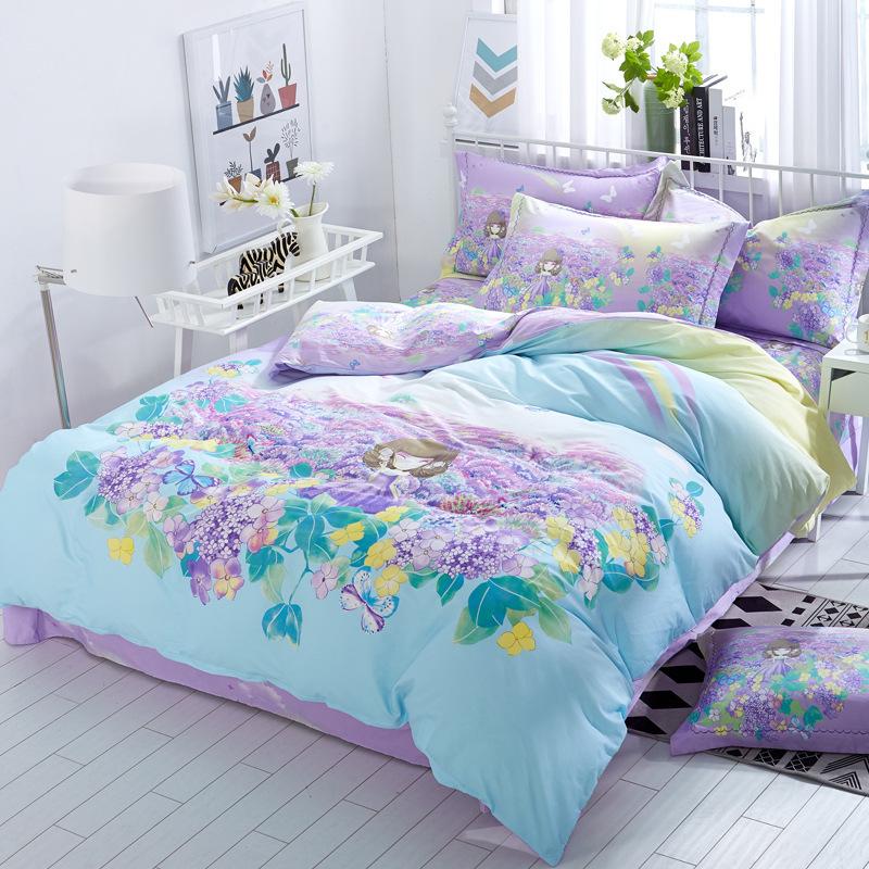 厂家直销春夏新品13372新款纯棉床上用品四件套一件起批发