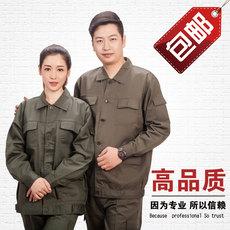 供应橄榄色工作服套装  耐磨  舒适  不起球  不变形 轻薄透气  吸汗不贴身