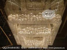 酒店工程水晶灯 水晶工程灯 星级酒店大堂灯具 水晶灯定制设计 水晶灯安装 工程水晶灯加工