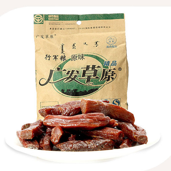 内蒙古广发草原手撕风干牛肉干250g 零食小吃特产