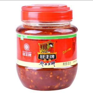 四川特产旺丰红油豆瓣酱500g郫县豆瓣红辣椒酱