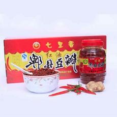 川菜调味品 七里香郫县红油豆瓣瓶装 1000g*8瓶一箱一级红油豆瓣