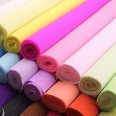 供应手工纸 花艺纸 皱纹纸 皱卷纸