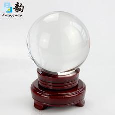 晶韵厂家直销30mm-200mm透明白色水晶球摆件镇宅转运风水球摆饰家居工艺礼品