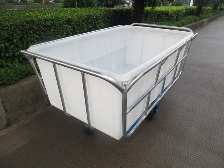 兴优力批发:低价优质染织推布车 1350L布料运输染布车 多规格洗衣房用印染布草车
