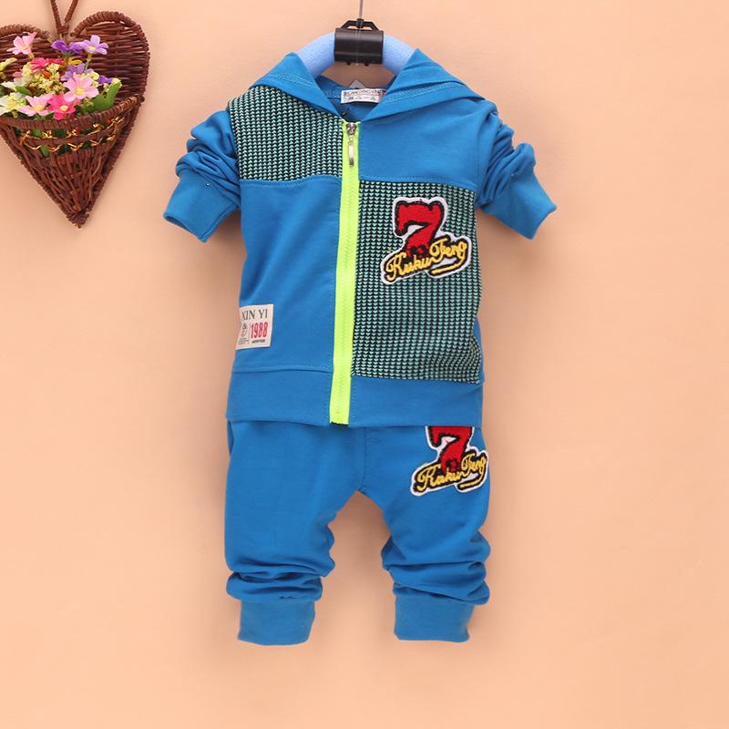 低价供应儿童套装童套装2015韩版新款男童开衫运动长袖两件套一件代发