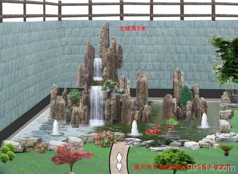 龙骨石盆景